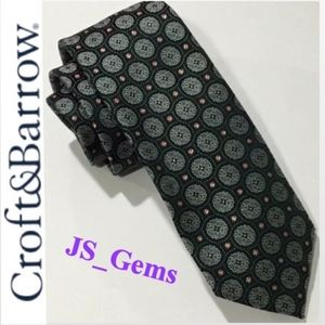 NWT Medallion Emerald Green Tie